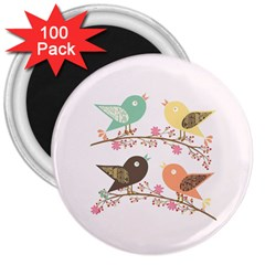 Four Birds 3  Magnets (100 pack)