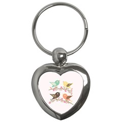Four Birds Key Chains (Heart)