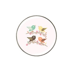 Four Birds Hat Clip Ball Marker