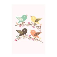 Four Birds Shower Curtain 48  x 72  (Small)