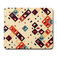 Squares in retro colors         Large Mousepad