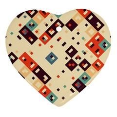 Squares in retro colors         Ornament (Heart)