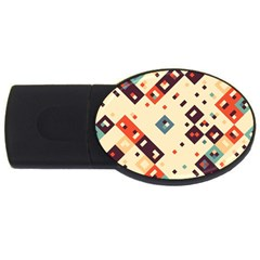 Squares in retro colors         USB Flash Drive Oval (2 GB)
