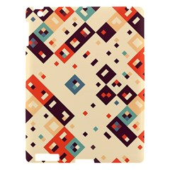 Squares in retro colors   Apple iPad 3/4 Hardshell Case