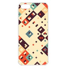 Squares in retro colors   Apple iPhone 5 Seamless Case (White)