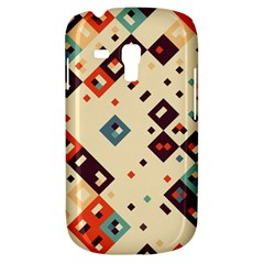 Squares in retro colors   Samsung Galaxy Ace Plus S7500 Hardshell Case