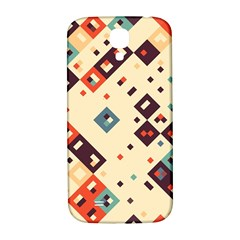 Squares in retro colors   Samsung Note 2 N7100 Hardshell Back Case