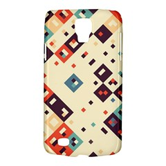 Squares in retro colors   Samsung Galaxy Ace 3 S7272 Hardshell Case