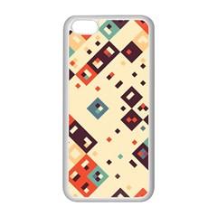Squares in retro colors   Apple iPhone 5C Seamless Case (Black)