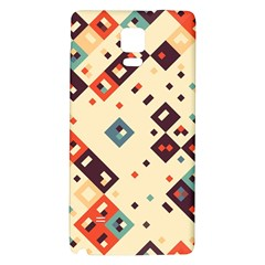 Squares in retro colors   Samsung Galaxy Note Edge Hardshell Case