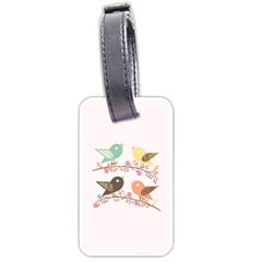 Four Birds Luggage Tags (One Side)