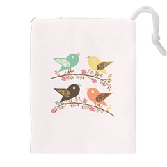 Four Birds Drawstring Pouches (XXL)