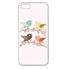 Four Birds Apple Seamless iPhone 5 Case (Clear)