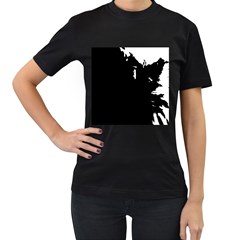 Abstraction Women s T-Shirt (Black) (Two Sided)
