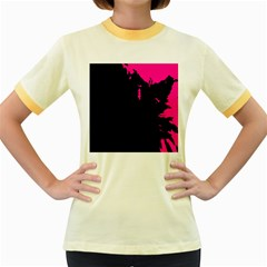 Abstraction Women s Fitted Ringer T-Shirts