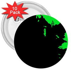 Abstraction 3  Buttons (10 pack)