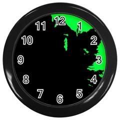 Abstraction Wall Clocks (Black)