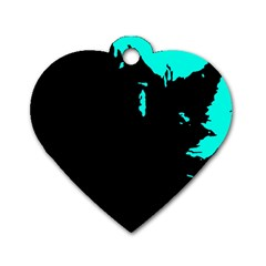Abstraction Dog Tag Heart (Two Sides)