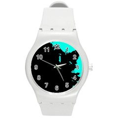Abstraction Round Plastic Sport Watch (M)
