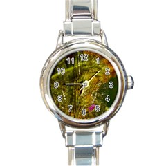 Dragonfly Dragonfly Wing Insect Round Italian Charm Watch