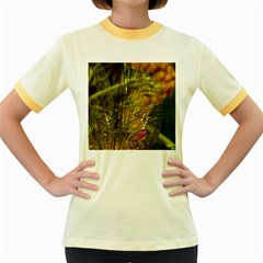 Dragonfly Dragonfly Wing Insect Women s Fitted Ringer T-Shirts