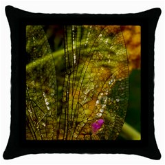 Dragonfly Dragonfly Wing Insect Throw Pillow Case (black)