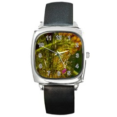 Dragonfly Dragonfly Wing Insect Square Metal Watch