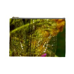 Dragonfly Dragonfly Wing Insect Cosmetic Bag (large)