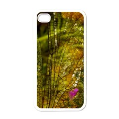 Dragonfly Dragonfly Wing Insect Apple iPhone 4 Case (White)