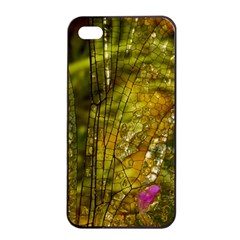 Dragonfly Dragonfly Wing Insect Apple iPhone 4/4s Seamless Case (Black)