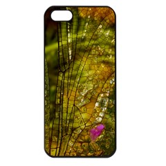 Dragonfly Dragonfly Wing Insect Apple Iphone 5 Seamless Case (black)