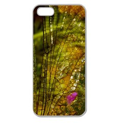 Dragonfly Dragonfly Wing Insect Apple Seamless iPhone 5 Case (Clear)