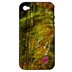 Dragonfly Dragonfly Wing Insect Apple Iphone 4/4s Hardshell Case (pc+silicone)