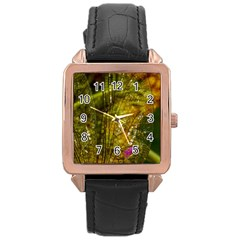 Dragonfly Dragonfly Wing Insect Rose Gold Leather Watch