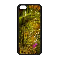 Dragonfly Dragonfly Wing Insect Apple Iphone 5c Seamless Case (black)