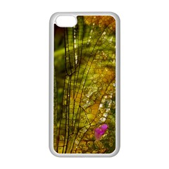Dragonfly Dragonfly Wing Insect Apple Iphone 5c Seamless Case (white)