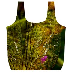 Dragonfly Dragonfly Wing Insect Full Print Recycle Bags (l)