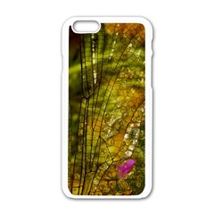 Dragonfly Dragonfly Wing Insect Apple Iphone 6/6s White Enamel Case