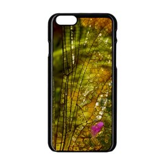 Dragonfly Dragonfly Wing Insect Apple Iphone 6/6s Black Enamel Case