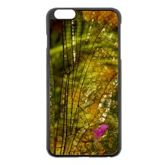 Dragonfly Dragonfly Wing Insect Apple iPhone 6 Plus/6S Plus Black Enamel Case