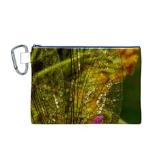 Dragonfly Dragonfly Wing Insect Canvas Cosmetic Bag (m)