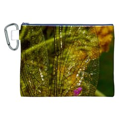 Dragonfly Dragonfly Wing Insect Canvas Cosmetic Bag (XXL)