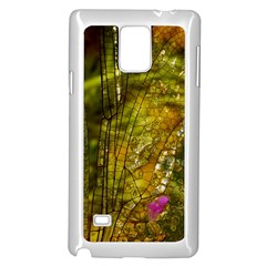 Dragonfly Dragonfly Wing Insect Samsung Galaxy Note 4 Case (White)