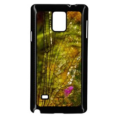Dragonfly Dragonfly Wing Insect Samsung Galaxy Note 4 Case (Black)
