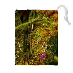 Dragonfly Dragonfly Wing Insect Drawstring Pouches (Extra Large)