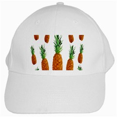 Pineapple Print Polygonal Pattern White Cap