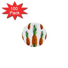 Pineapple Print Polygonal Pattern 1  Mini Buttons (100 pack)