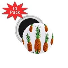 Pineapple Print Polygonal Pattern 1.75  Magnets (10 pack)
