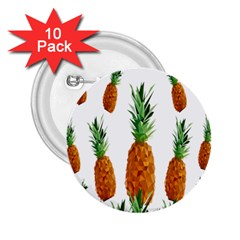 Pineapple Print Polygonal Pattern 2.25  Buttons (10 pack)