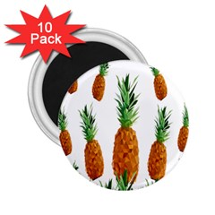 Pineapple Print Polygonal Pattern 2 25  Magnets (10 Pack)
